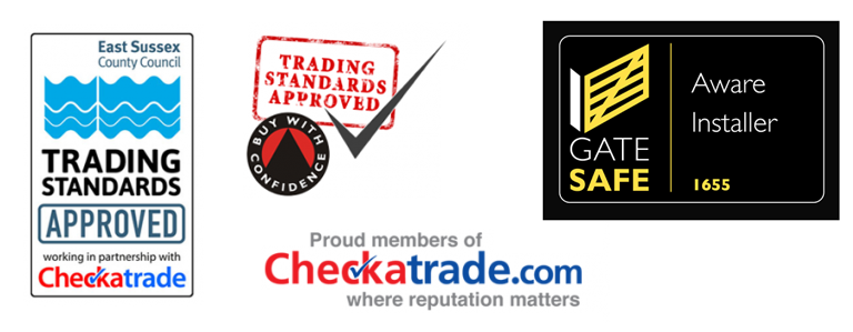 AW Autogates are Trading Standards Approved and hold Accreditation with Checkatrade